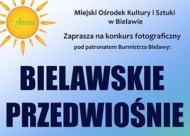 Konkurs fotograficzny BIELAWSKIE PRZEDWIOŚNIE - miniaturka