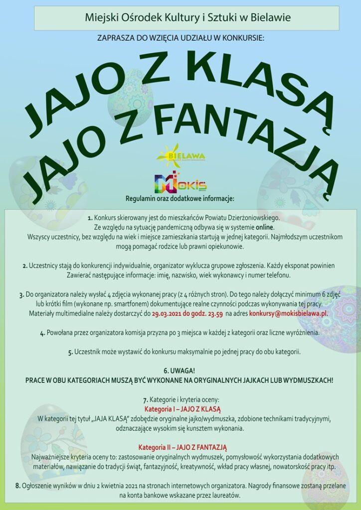 Plakat konkursu JAJO Z KLASĄ/JAJO Z FANTAZJĄ