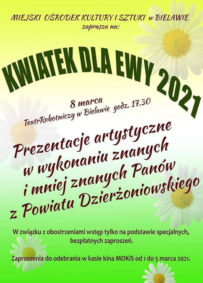 Plakat koncertu KWIATEK DLA EWY