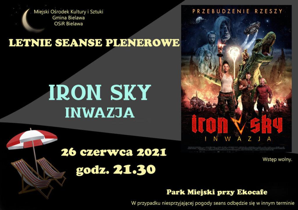 Plakat seansu plenerowego - filmu IRON SKY. INWAZJA