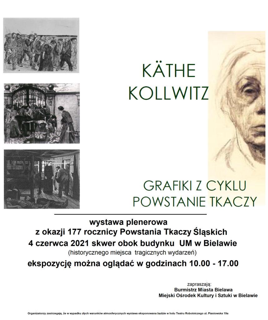 Plakat informujący o wystawie plenerowej
