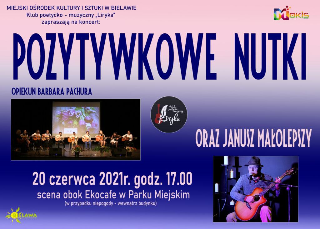 Plakat koncertu POZYTYWKOWE NUTKI