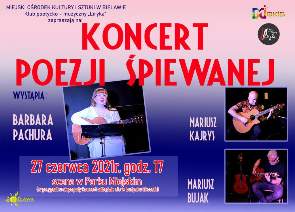 Plakat koncertu poezji śpiewanej