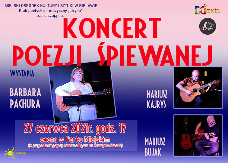Plakat koncertu poezji śpiewanej - miniaturka