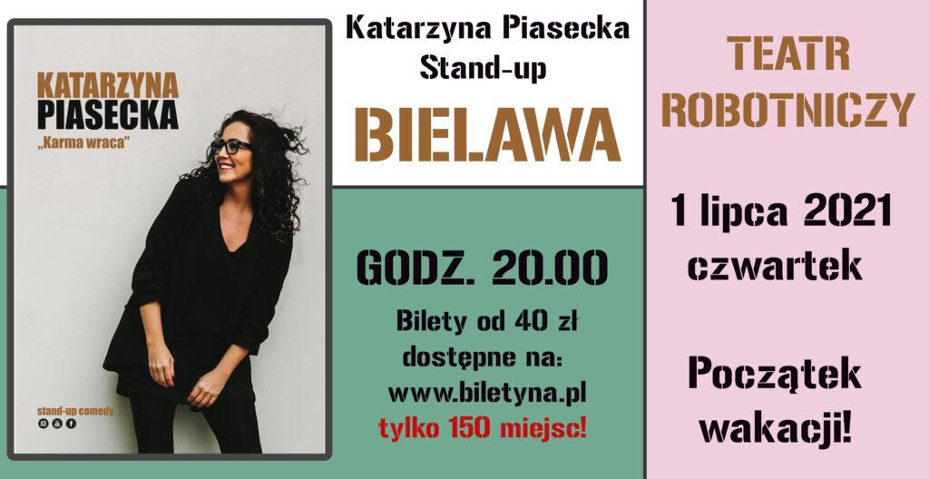 Plakat stand-upu Katarzyny Piaseckiej