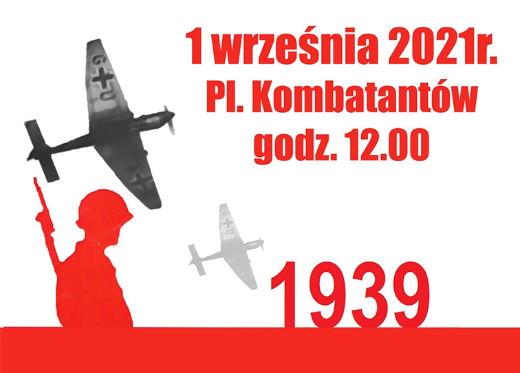 Plakat obchodów rocznicy wybuchu II wojny światowej - miniaturka