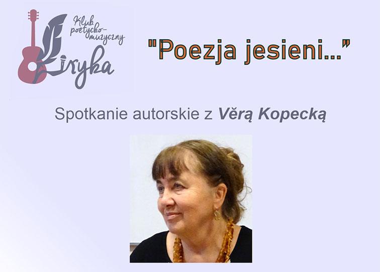 Plakat spotkania z Věrą Kopecką - miniaturka