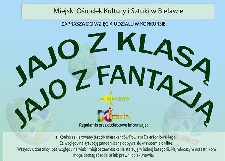 Plakat konkursu JAJO Z KLASĄ/JAJO Z FANTAZJĄ - miniaturka