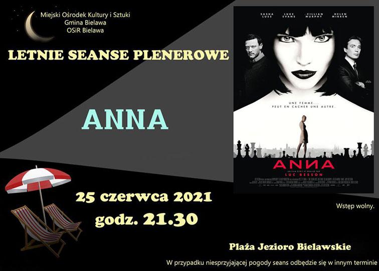Plakat seansu plenerowego - filmu ANNA - miniaturka