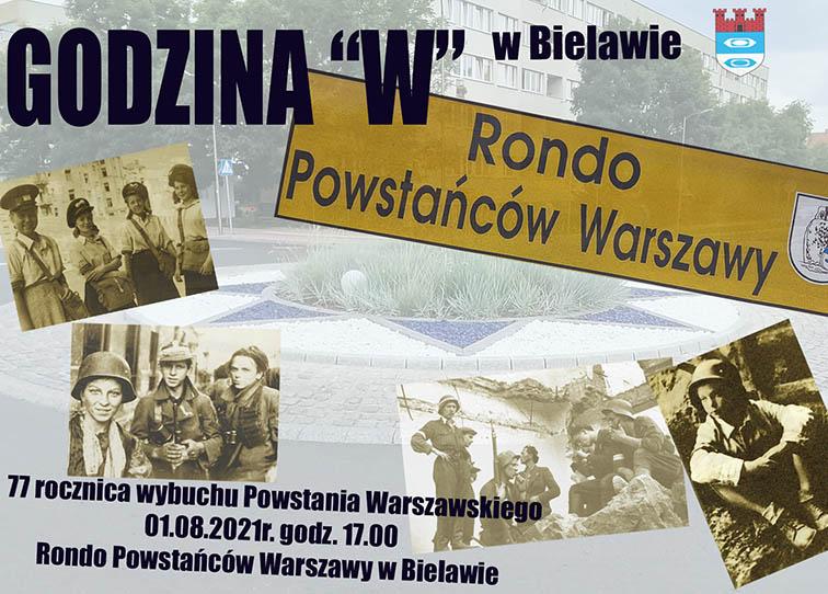 Plakat uczczenia rocznicy powstania warszawskiego - miniaturka