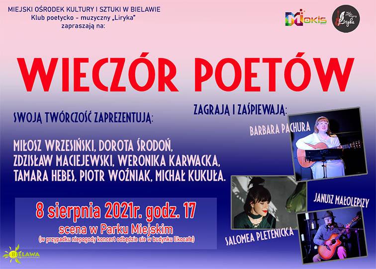 Plakat wieczoru poetów - miniaturka