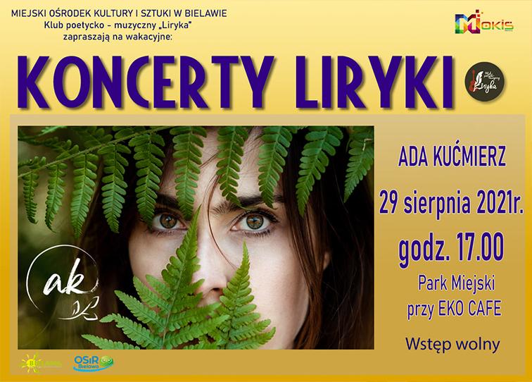 Plakat koncertu Ady Kućmierz - miniaturka